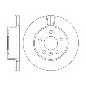 REMSA 6460.10 Диск тормозной MB VITO передн., вент. (пр-во REMSA)