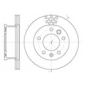 REMSA 6461.10 Диск тормозной MB SPRINTER,VW LT 28-35, LT 28-46, передн., вент. (пр-во REMSA)