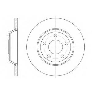 REMSA 6472.00 Диск тормозной AUDI A4 передн. (пр-во REMSA)