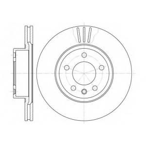 REMSA 6490.10 Диск тормозной OPEL OMEGA B передн., вент. (пр-во REMSA)