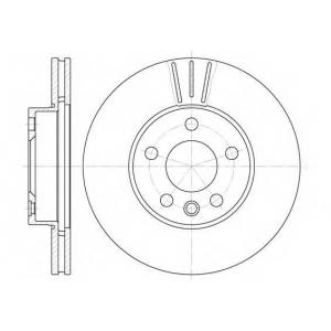 REMSA 6496.10 Диск тормозной FORD, SEAT, VW, передн., вент. (пр-во REMSA)