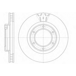 REMSA 6507.10 Диск тормозной TOYOTA LANDCRUISER 80 4.0I 12V 90.01- передн. (пр-во REMSA)