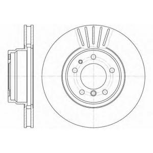 REMSA 6509.10 Диск тормозной BMW, вент. (пр-во REMSA)