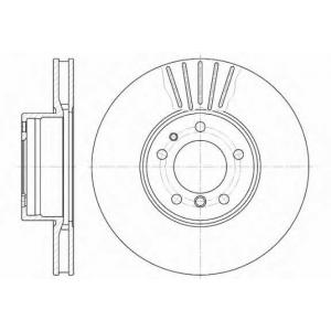 REMSA 6511.10 Диск тормозной BMW 5 (E39), 7 (E32) передн., вент. (пр-во REMSA)