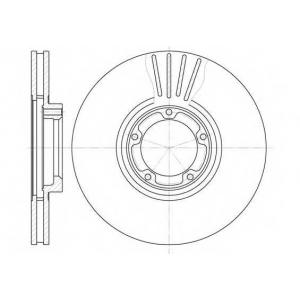 REMSA 6518.10 Диск тормозной FORD TRANSIT, передн., вент. (пр-во REMSA)