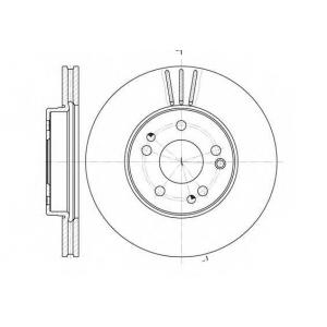 REMSA 6524.10 Диск тормозной MB E-CLASS передн., вент. (пр-во REMSA)