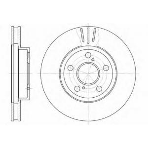 REMSA 6540.10 Диск гальмівний