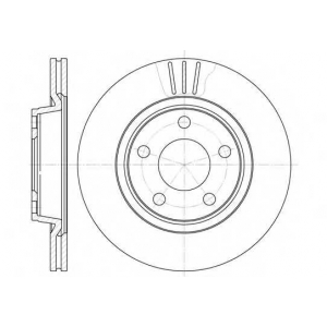 REMSA 6548.10 Диск тормозной AUDI, VW, вент. (пр-во REMSA)