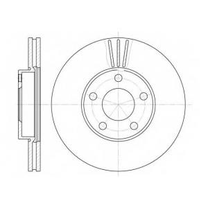 REMSA 6549.10 Диск тормозной VW PASSAT -05 передн. (пр-во REMSA)