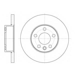 REMSA 6550.00 Диск тормозной VW T4, передн. (пр-во REMSA)