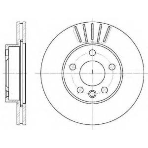 REMSA 6551.10 Диск тормозной VW T4, передн., вент. (пр-во REMSA)