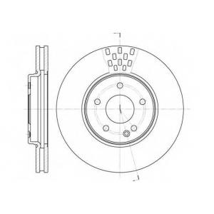 REMSA 6556.10 Диск тормозной MB E-CLASS передн., вент. (пр-во REMSA)