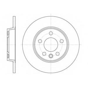 REMSA 6558.00 Диск тормозной VW T4 BUS, задн. (пр-во REMSA)