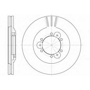 REMSA 6560.10 Диск тормозной OPEL FRONTERA передн., вент. (пр-во REMSA)