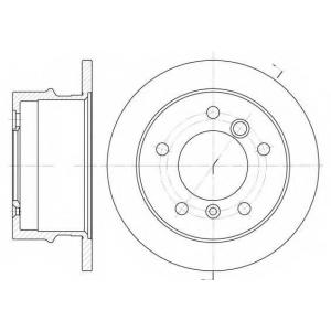 REMSA 6565.00 Диск тормозной MB SPRINTER, VW LT 28-35, LT 28-46, задн. (пр-во REMSA)