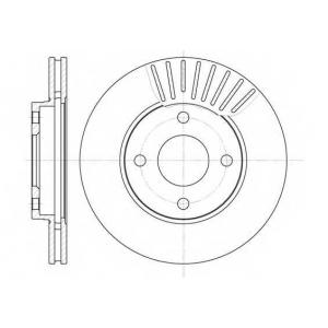 REMSA 6575.10 Диск тормозной FORD FIESTA, FOCUS, MAZDA 2, передн., вент. (пр-во REMSA)