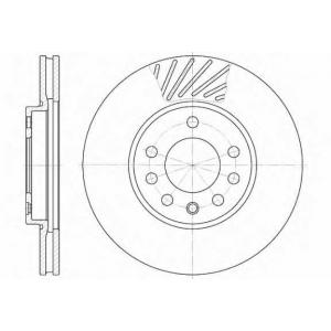 REMSA 6584.10 Диск тормозной OPEL ASTRA передн., вент. (пр-во REMSA)