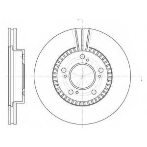 REMSA 6586.10 Диск тормозной HONDA, MAZDA передн., вент. (пр-во REMSA)