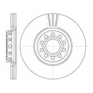 REMSA 6596.10 Диск тормозной AUDI A4,A6, SKODA SUPERB, VW PASSAT, вент. (пр-во REMSA)