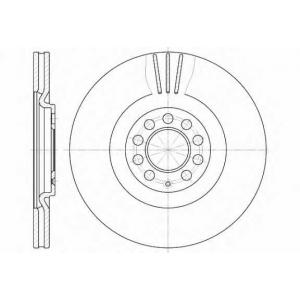 REMSA 6597.10 Диск тормозной AUDI VW A3, A3 QUATTRO, S3 передн. (пр-во REMSA)