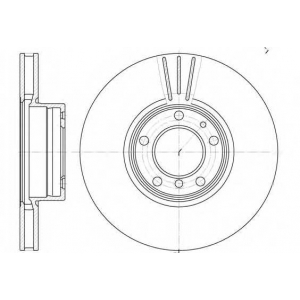 REMSA 6599.10 Диск тормозной E39 530I, 540 передн. (пр-во REMSA)