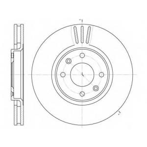 REMSA 6604.10 Диск тормозной CITROEN C3, C4 PEUGEOT 207, 408 передн., вент. (пр-во REMSA)