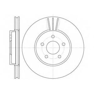 REMSA 6607.10 Диск тормозной FORD MONDEO передн., вент. (пр-во REMSA)