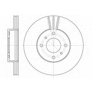 REMSA 6610.10 Диск тормозной NISSAN ALMERA передн., вент. (пр-во REMSA)