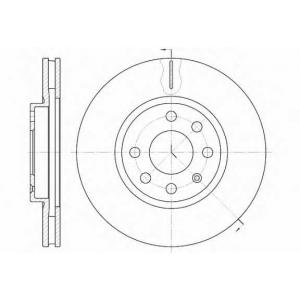 REMSA 6611.10 Диск тормозной OPEL CORSA B передн., вент. (пр-во REMSA)