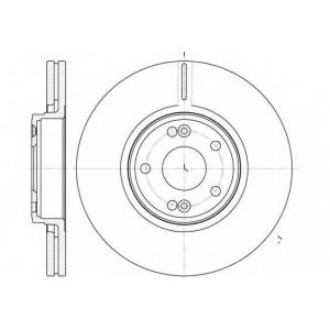 REMSA 6612.10 Диск тормозной (пр-во REMSA)