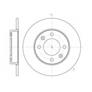 REMSA 6630.00 Диск тормозной CITROEN C3, C4, PEUGEOT 307 (пр-во REMSA)