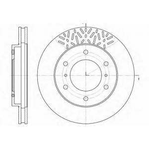 REMSA 6639.10 Диск тормозной MITSUBISHI PAJERO 02- передн. (пр-во REMSA)
