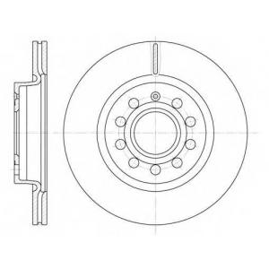REMSA 6647.10 Диск тормозной AUDI A3, SEAT TOLEDO, SKODA OCTAVIA, VW CADDY, вент. (пр-во REMSA)