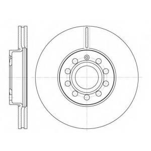 REMSA 6648.10 Диск тормозной SEAT TOLEDO, SKODA YETI, VW GOLF VI вент. (пр-во REMSA)