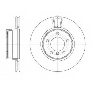 REMSA 6653.10 Диск тормозной BMW 5 Series (E60)(E61) (07/03-) передн. (пр-во REMSA)