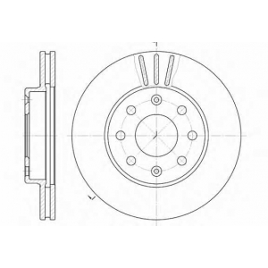 REMSA 6655.10 Диск тормозной CHEVROLET AVEO передн., вент. (пр-во REMSA)