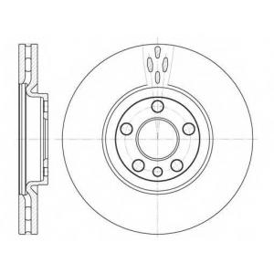 REMSA 6658.10 Диск тормозной CITROEN C8, PEUGEOT 807 передн., вент. (пр-во REMSA)