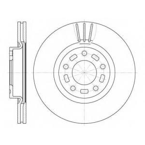 REMSA 6672.10 Диск тормозной MAZDA 3,5 передн., вент. (пр-во REMSA)