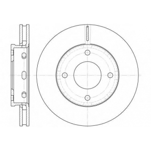 REMSA 6680.10 Диск тормозной MITSUBISHI COLT 1.1-1.5 04- передн. (пр-во REMSA)