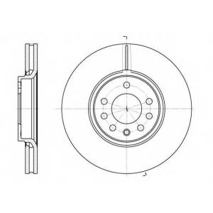 REMSA 6687.10 Диск тормозной OPEL SAAB SIGNUM 3.0IV6, VECTRA C 3.2IV6, 3.0CDTI передн. (пр-во REMSA)