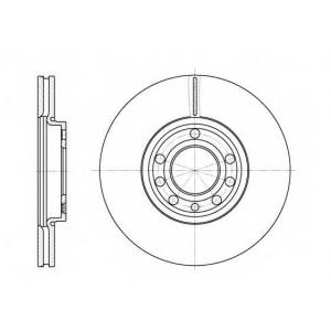 REMSA 6689.10 Диск тормозной FIAT, OPEL, SAAB, передн., вент. (пр-во REMSA)