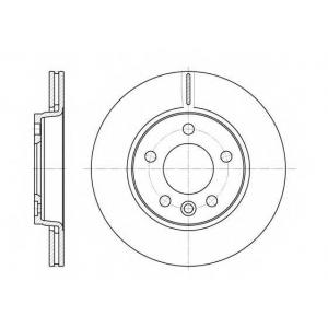 REMSA 6707.10 Диск тормозной VW T5 задн., вент. (пр-во REMSA)