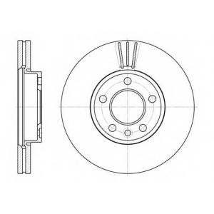REMSA 6708.10 Диск тормозной VW T5 передн., вент. (пр-во REMSA)