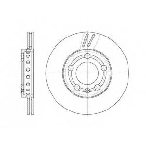 REMSA 6709.10 Диск тормозной SKODA ROOMSTER, VW POLO передн., вент. (пр-во REMSA)