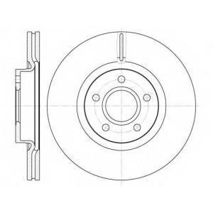 REMSA 6711.10 Диск тормозной FORD C-MAX, FOCUS передн. (пр-во REMSA)