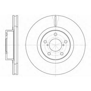 REMSA 6715.10 Диск тормозной SUBARU LEGACY передн., вент. (пр-во REMSA)