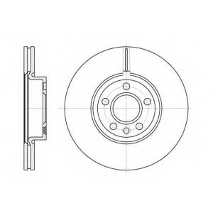 REMSA 6728.10 Диск тормозной FORD GALAXY (WGR)(11/95-04/06) передн. (пр-во REMSA)