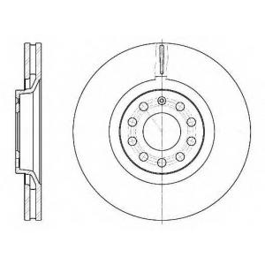 REMSA 6730.10 Диск тормозной AUDI A4 1.8-3.2 04-, A6 1.8-4.2 97-05 передн. (пр-во REMSA)