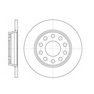 REMSA 6731.00 Диск тормозной AUDI A4 1.8-3.2 04-, A6 1.8-4.2 97-05 задн. (пр-во REMSA)