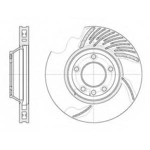 REMSA 6769.11 Диск тормозной AUDI Q7, VW TOUAREG передн., вент. (пр-во REMSA)